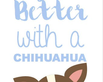 "Postcard ""life is better with a chihuahua"" cards"