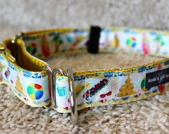 "1"" Sandcastles Martingale Collar"