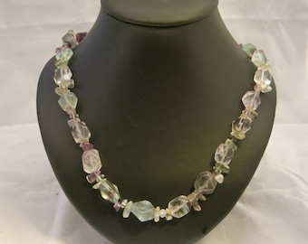 Rainbow Flourite Necklace