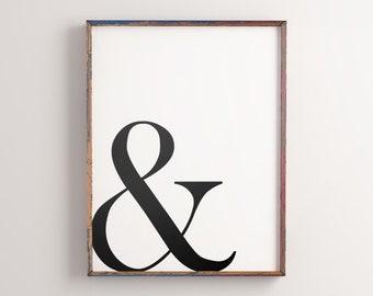 Alphabet letter g printable initial art poster