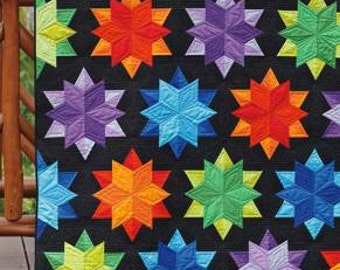 Quilt Pattern - Night Sky by Jaybird Quilts JBQ 137 - Fat Quarter Friendly - DIY Pattern Only