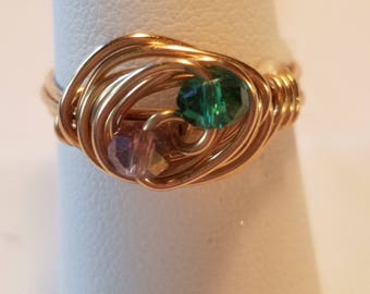 Rolled Gold Bead Ring