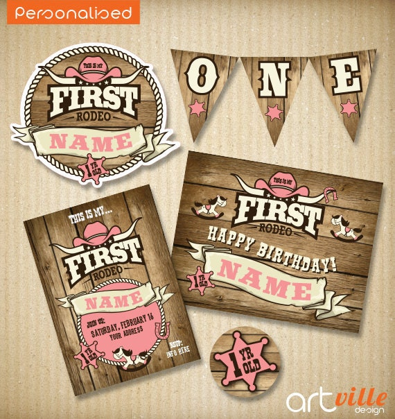 Cowgirl first birthday invitation first rodeo baby birthday cowgirl first birthday invitation first rodeo baby birthday birthday kit cowgirl birthday digital files filmwisefo Images