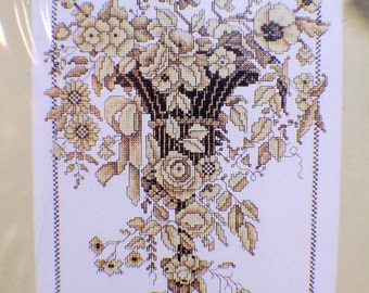"Golden Sconce 9"" x 12"" Counted Cross Stitch Picture Kit by Design Works New"