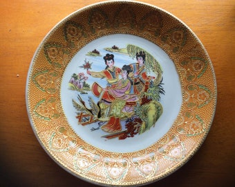 Three Asain Ladies jewelry tray