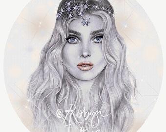 Elsa - fashion illustration portrait