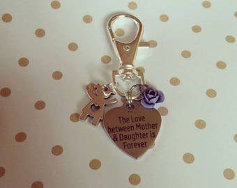 The Love between Mother & Daughter is Forever Keychain