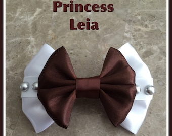 Princess leia starwars hair bow