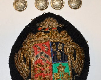 Genuine Vintage Ridley College Blazer Crest and Buttons St. Catharines Ont.-- Free US Shipping
