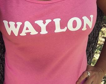 Waylon Jennings Custom SoftStyle Junior Fit Tank Top