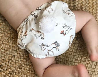 Handmade EASTER Bunny Baby Bloomers with Detachable Tail