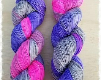 CHEVYRELL Colorway | Hand Dyed Yarn | Purple | Fuschia | Grey