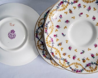 Set of Six Orphaned Royal Worcester Saucers