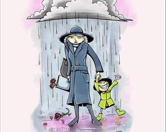 Rainy Days - 11x14 Signed Art Print