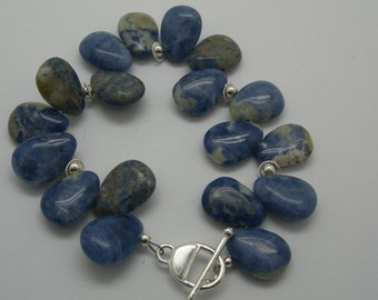 Sodalite and sterling  bracelet