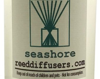 8 oz Seashore Fragrance Reed Diffuser Oil Refill with reeds- Made in the USA