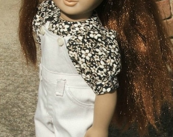 Overalls and Garden Blouse fits American girl doll