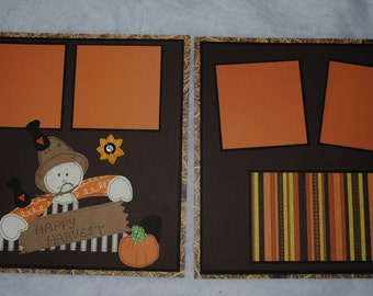 Fall/Halloween Two Page 12 x 12  Scrapbook Layout