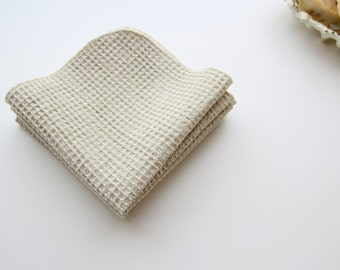 NEW! Organic Cotton Colorgrown Sage Green Waffle Facial Cloths - Choose Your Quantity and Size