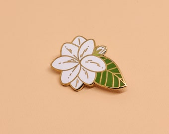 Sampaguita (Jasmine Flower) Enamel Pin | Hard Enamel, Enamel Pin, Lapel Pin, Flair, Philippines Art, Filipino Pin, Philippines Pin