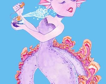 A5 print Perfume mermaid