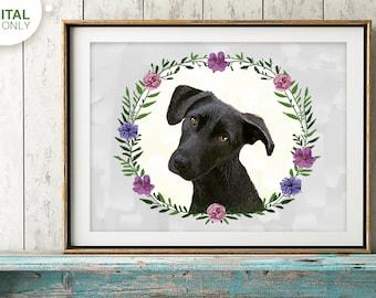 custom dog portrait, Custom dog painting, dog illustration, dog memorial, custom pet portraits, Gift for Dog Lover, Pet Loss, Pet Art