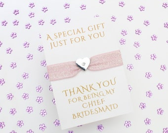 Thank you Gift for Chief Bridesmaid - Chief Bridesmaid bracelet - Chief Bridesmaid Gift - Chief Bridesmaid hair - Chief Bridesmaid Present