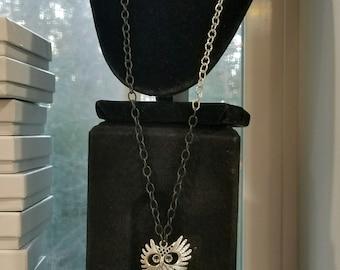 Owl head necklace