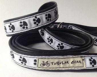 Black and White Paw print leash