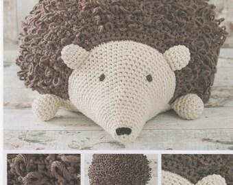 DMC 15331L/2 Hedgehog Pouffe Crochet Pattern designed by Zoe Halstead