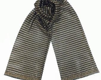 Knitted metallic scarf FREE SHIPPING WORLDWIDE