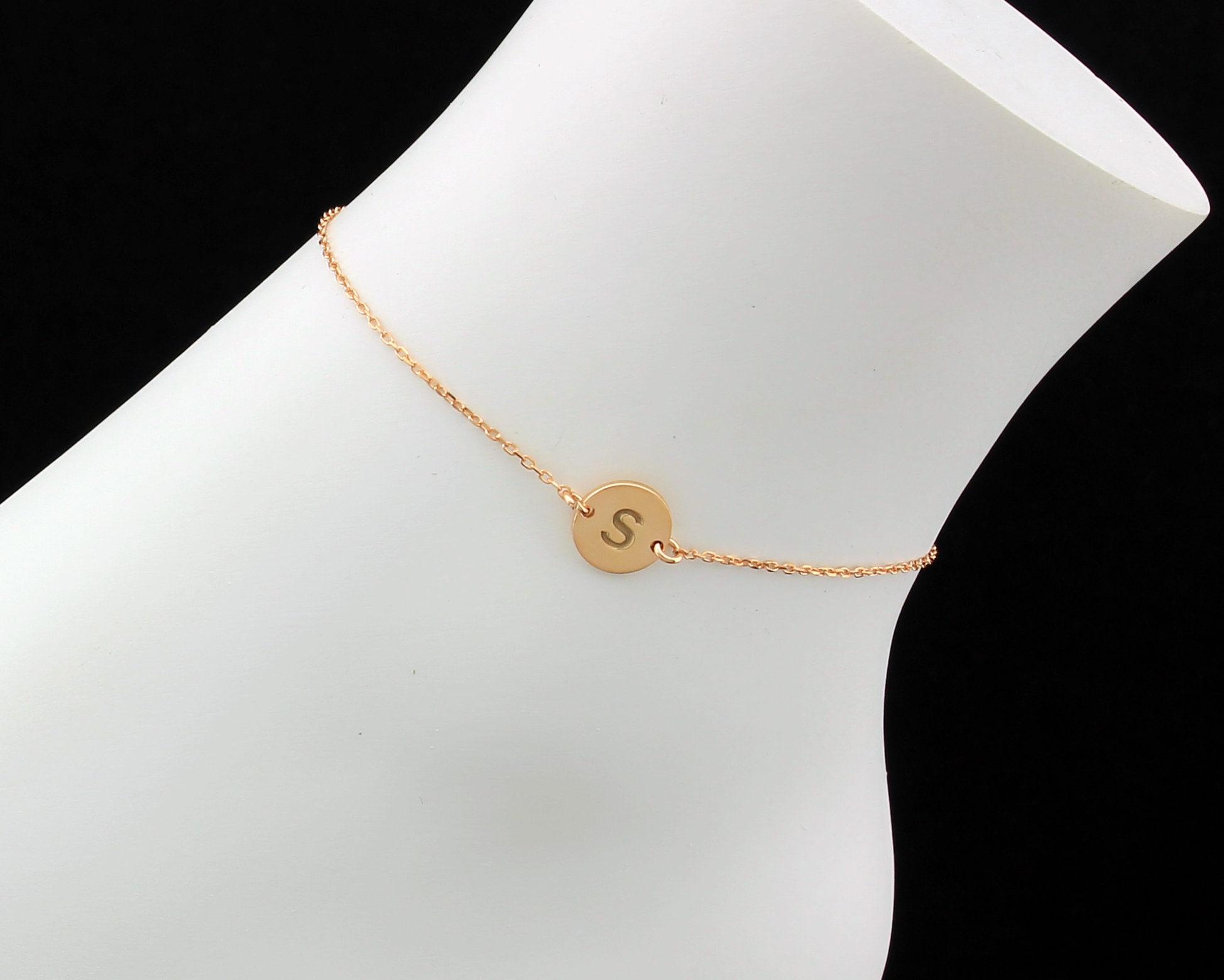 chain charm sterling and anchor anklets up curb with silver to tiny gold solid receive anklet