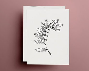 Greeting card, A6, graphic, hand drawn