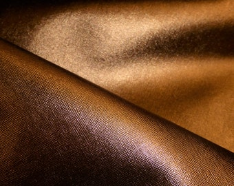 """NEW Leather Metallic 8""""x10"""" Saffiano BRONZE  Weave Embossed Cowhide 2.5-3oz/ 1-1.2mm PeggySueAlso™ E8201-16"""