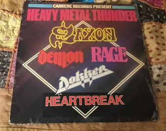 Heavy Metal Thunder Carrere  Records compilation French 1982