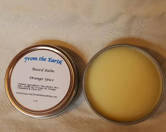 Organic Beard Balm- Beard Conditioner, Beard Wax, Beard Pomade, 1 oz