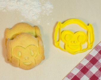 Formin cutter biscuits emoji monkey do not hear-emoji monkeys Cookie cutters