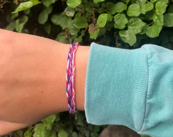 10 Thin Braided Friendship Bracelets
