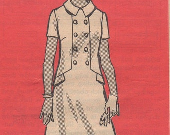 Bust 40-1960's Misses' Full Figure Dress Mail Order Pattern 4860 Size 36