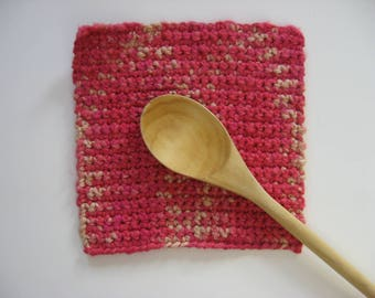 thick hand-dyed cotton pot holder large