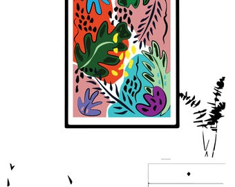 Floral graphic design print II