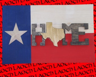 "Texas Flag ""Home"" Wall Sign"