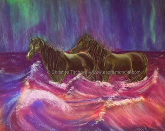 Magical Moments-original work of art pastel painting 40 x 50 cm