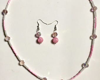 Girly Girl necklace/earring set
