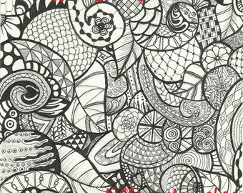 Digital Zentangle Coloring Page