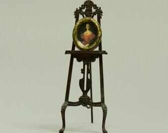 Elizabeth Bathory - Miniature Dollhouse Framed Photograph - 1:12 scale Artisan Handmade