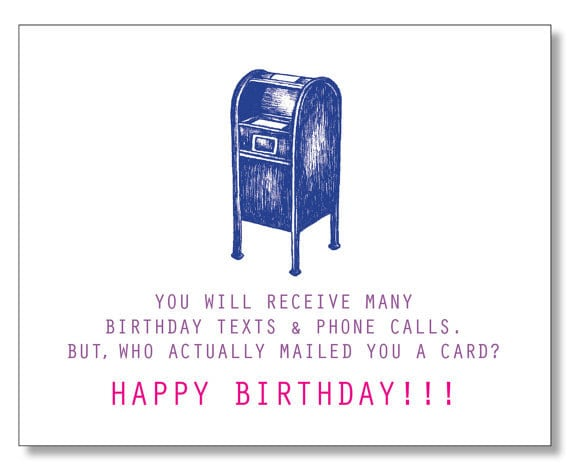 Funny sweet happy birthday card modern birthday card description happy birthday card mailbox bookmarktalkfo Images