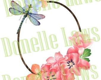 Dragonfly Frame Print N cut file
