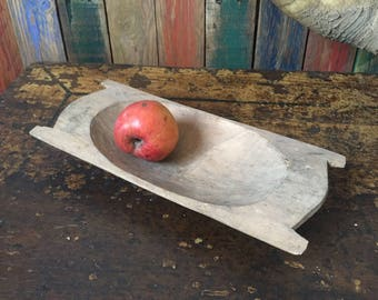 Hand Carved solid WOODEN Bowl HANDMADE  Farm House Display Bakery Primitive Beautiful rustic trinket bowl Small Decor 1900