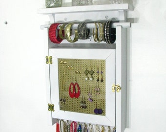 Hanging Jewelry Holder Display with two layers of storage